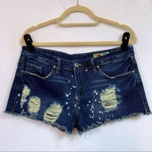 Blank NYC Distressed Denim Cutoff Shorts